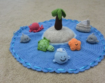 Amigurumi Island Play Set - Crochet