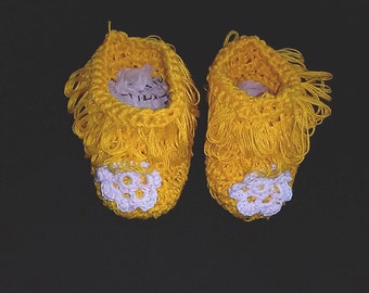 Cotton flower girl shoes