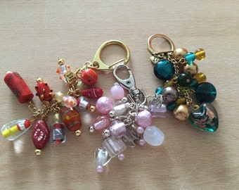 Glass bead keyrings