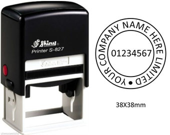 Self Inking Company Stamp 38mm Round. (Available in 3 Colours)