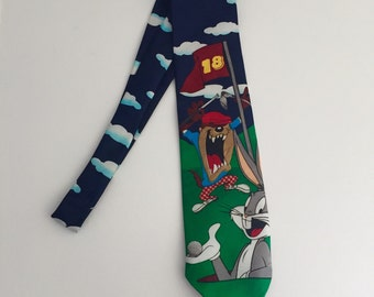 Vintage Looney Tunes Golf Tie