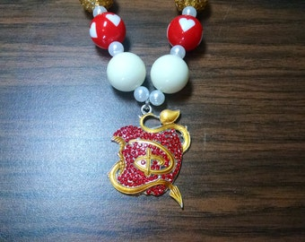 Descendants Disney Inspired Girls Bubblegum Necklace.