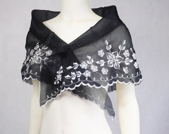 Filipiniana Handmade Handpainted Alampay Shawl Top Shrug Wrap Panuelo