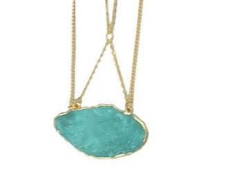 Turquoise Agate Pendant