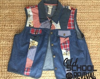 Shirt without sleeves Jean Patchwork 80