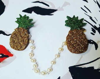 Pineapple sweater/cardigan clips