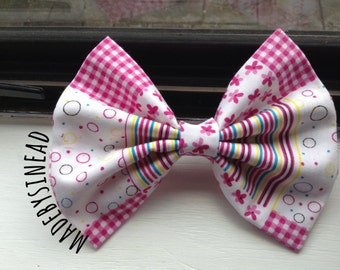 Pink PatchWorks Bow