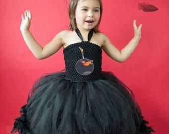 Black Angry bird tutu dress