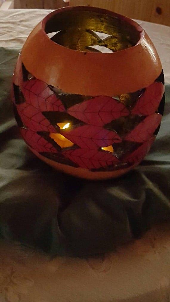 Autumn Burning Bush Illuminary Gourd