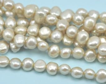 6-7mm Champagne Nugget Baroque Freshwater Pearls