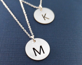 Personalized Initial Necklace Custom Initial Jewelry Sterling Silver Monogram Initial Necklace Gift
