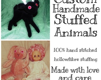 Custom Handmade Stuffed Animals (Varying fabrics and colours)