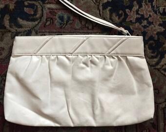 White Vinyl Evening Bag