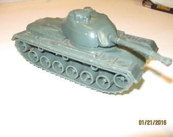 Vintage plastic Tim-Mee toy armored tank