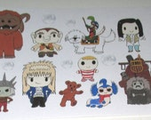 Labyrinth Character Stickers