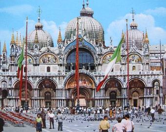 Vintage Venice St. Marc's Basilica (unposted) / Venice vintage postcard