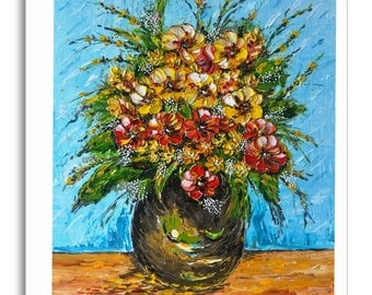 Art Greeting Cards 'Flower Bouquets'