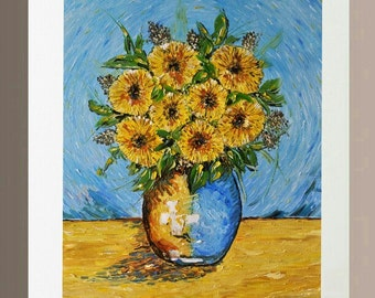 Art Print - Yellow Gerberas in Vase