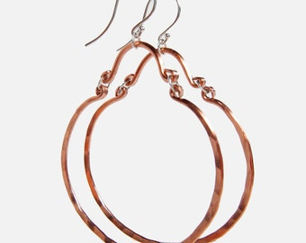 Andrea Copper Hoop Dangle Earrings