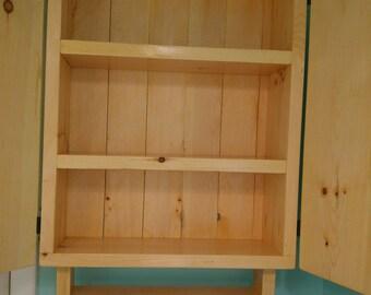 Handmade Solid Wood Bathroom Cabinet