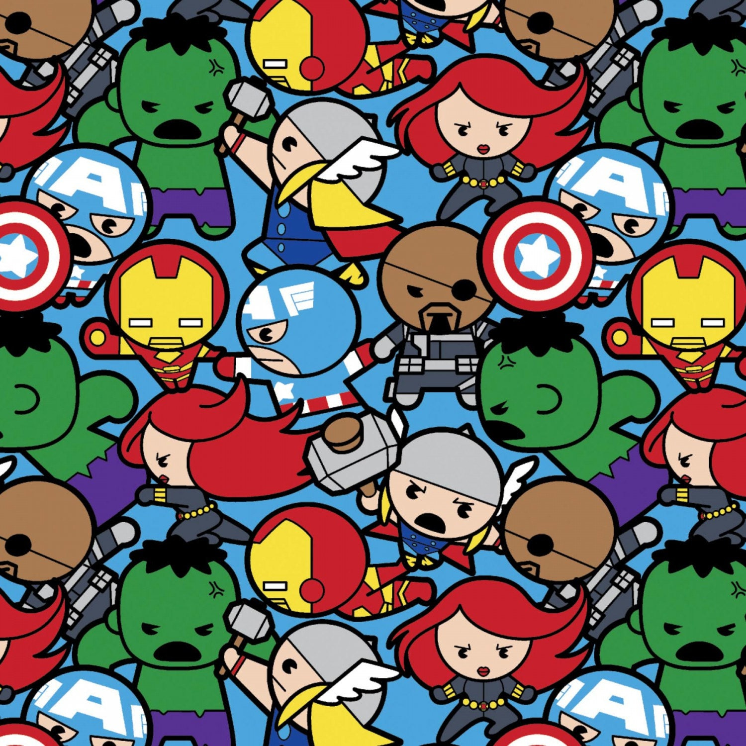 Marvel Avengers Kawaii All In The Pack Fabric By Disney For