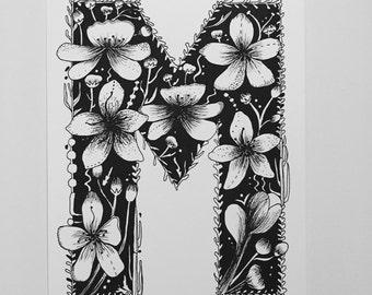 Floral Letter M