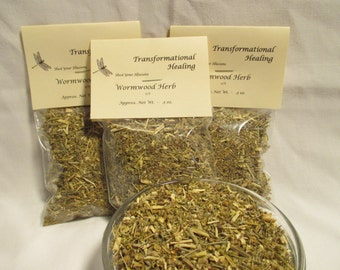 Wormwood Herb, Artemisia absinthium - c/s - Divination, Psychic, Evil Eye, Magical, Spiritual, Metaphysical - Dee's Transformational Healing