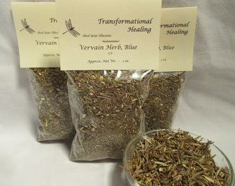 Vervain Herb, Blue - c/s - Love, Offering, Psychic Attack, Create Healing, Magical, Spiritual, Metaphysical - Dee's Transformational Healing