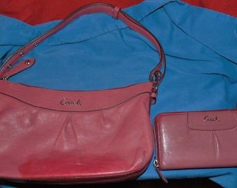vintage coach handbag and wallet set