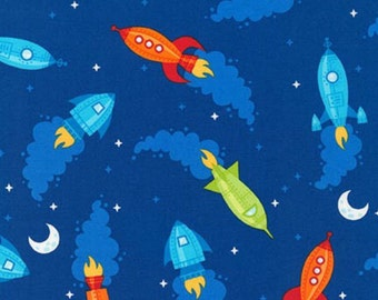 Nursery curtains, children's curtains, rockets blackout curtains, kids, childrens, nursery, baby, tie backs, tab top, pleated