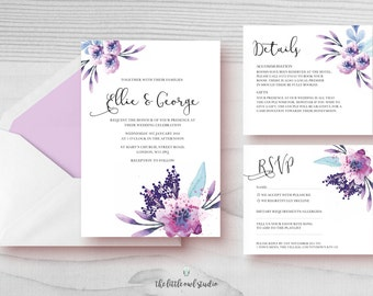printable wedding invitation kits wedding invitation kits etsy uk 6821