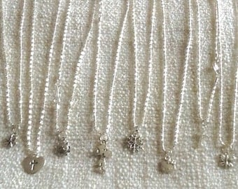 Silver Pendent Necklaces available in different styles on 16 1/2 Chain