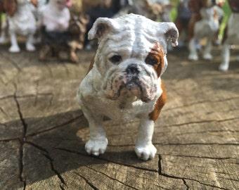 Handpainted English Bulldog Sculpture