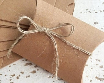 Kraft Brown Pillow Box Pk10 / Favour Boxes