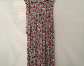Retro cherry print jumpsuit