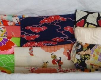 Assorted antique / vintage Japanese Kimono fabric 150g - Large no.8