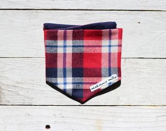 The Lumberjack - Red Plaid dog bandana