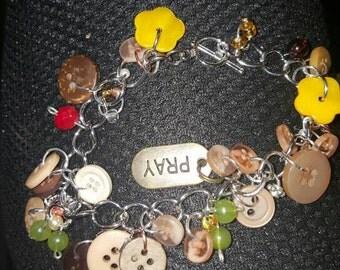 Becca Button Charm Bracelet