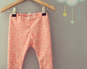 Organic pink dots baby/toddler leggings