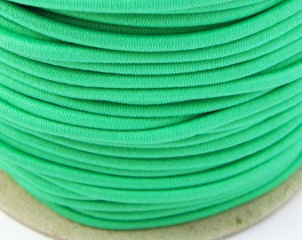 5, 10, 50 m rubber cord 3 mm Apple green