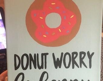 Donut Worry Canvas
