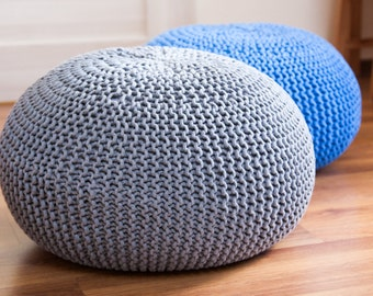 Knitted pouf / ottoman Scandinavian style 47 colors