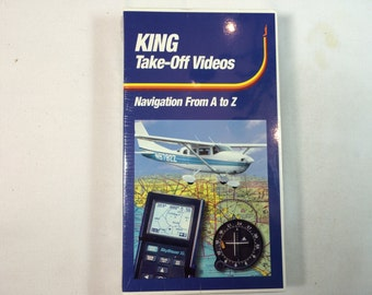KING TAKE OFF Videos- (Navigation From A-Z) Vhs -Pilot Instructional  New