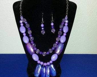 SK2535 Violet necklace set