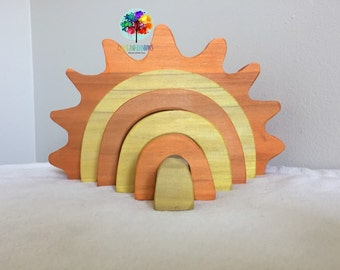 READY TO SHIP Hardwood Sun Stacker