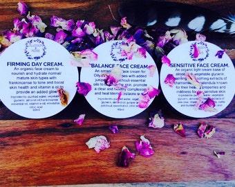 Organic Face Creams-All skin types