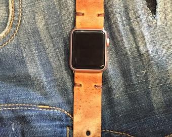 Distressed Leather I watch Wristband