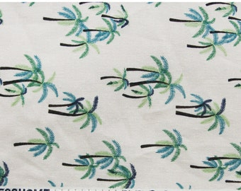Tropical fabric, Palm Tree patterned Fabric made in Korea by Half Yard