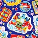 "Disney&Pixar Monsters, Nemo, Toy Story, Cars Character Fabric made in Japan, 45cm by 53cm or 18"" by 21"""
