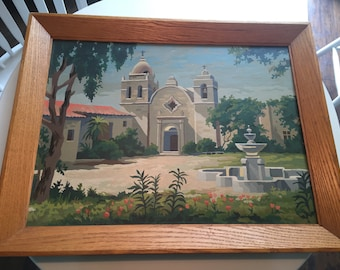 Paint By Numbers Vintage Framed Mission